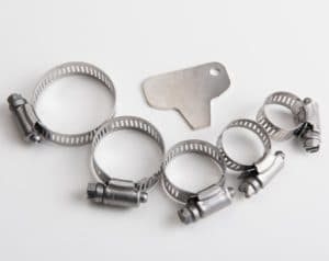 High Pole Section Retaining Clamps